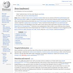 Zeus (malware)