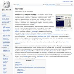 Malware - Wikipedia, the free encyclopedia