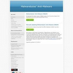 Download Malwarebytes' Anti-Malware Database - GT500.org