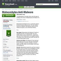 Malwarebytes Anti-Malware - Free software downloads and software reviews
