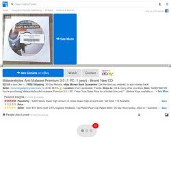 Malwarebytes Anti-Malware Premium 3.0 (1 PC- 1 year) - Brand New CD