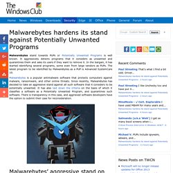 Malwarebytes hardens its stand against Potentially Unwanted Programs