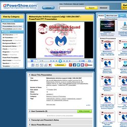 Malwarebytes Antivirus support.Call@:1-800-294-5907 PowerPoint presentation