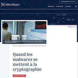 Quand les malwares se mettent à la cryptographie
