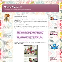 Montessori chez nous #2