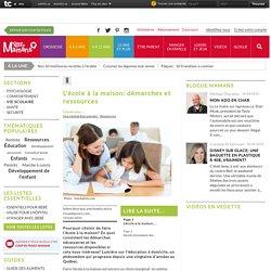 L'école à la maison: démarches et ressources