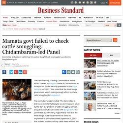 Mamata govt failed to check cattle smuggling: Chidambaram-led Panel