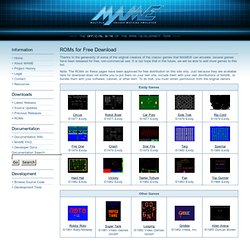 MAME | ROMs for Free Download