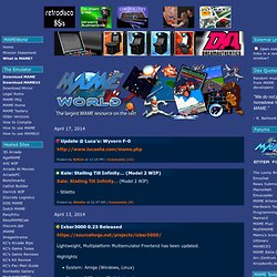 MAMEWorld - The Largest MAME Resource on the Net