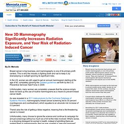 New 3D Mammography Increases Radiation Exposure