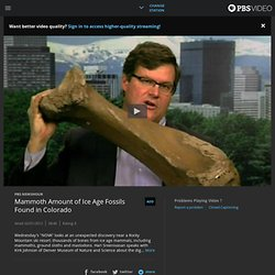 Mammoth Amount of Ice Age Fossils Found in Colorado | Watch PBS NewsHour Online