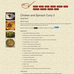 Mamta's Kitchen » Chicken and Spinach Curry 2