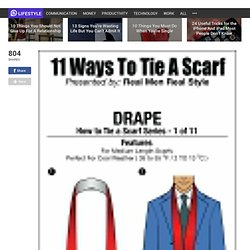 A Man's Guide On How to Tie A Scarf This Winter