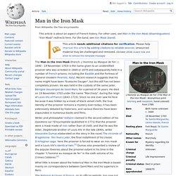 Man in the Iron Mask - Wikipedia