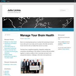 Manage Your Brain Health