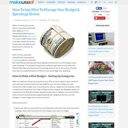 How To Use Mint To Manage Your Budget & Spendings Online