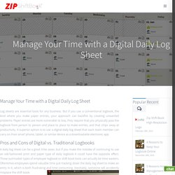 Manage Your Time with a Digital Daily Log Sheet - Zip Shift Book