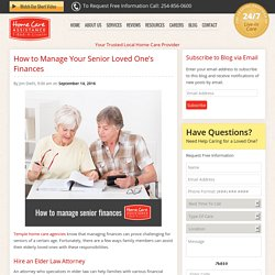 How to Manage Your Senior Loved One's Finances