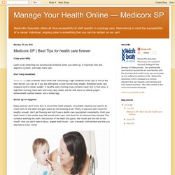 Manage Your Health Online — Medicorx SP: Medicorx SP