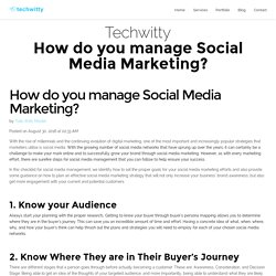 How do you manage Social Media Marketing? - Techwitty