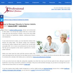 How to Manage Obesity in Senior Adults
