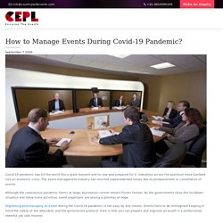 How to Manage Events During Covid-19 Pandemic? - Countrywide