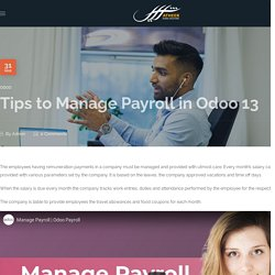 Tips to Manage Payroll in Odoo 13 - Atheer Global Solutions