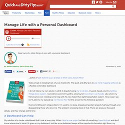 Get-It-Done Guy :: Manage Life with a Personal Dashboard