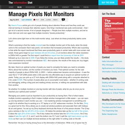 Manage Pixels Not Monitors