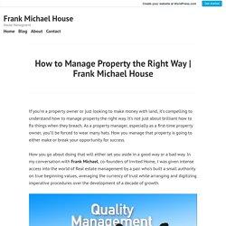 Frank Michael House – Frank Michael House