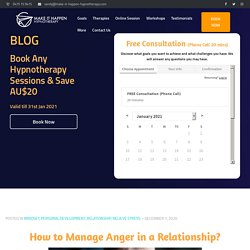 How to Manage Anger in a Relationship? – Anger Management