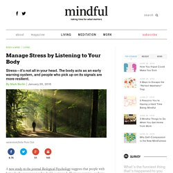 Manage Stress by Listening to Your Body