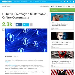 HOW TO: Manage a Sustainable Online Community