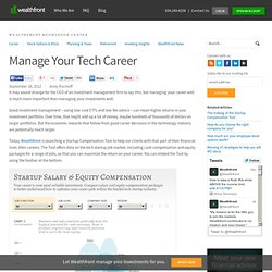 Manage Your Tech Career