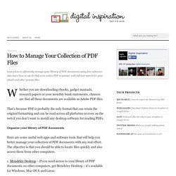 How to manage your collection of PDF Files