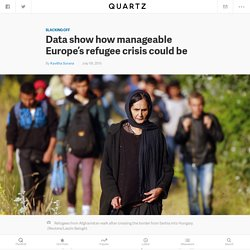 Data show how manageable Europe's refugee crisis could be