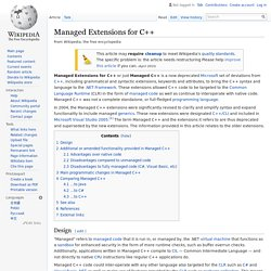 Managed Extensions for C++