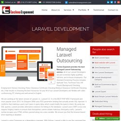 Managed Laravel outsourcing at low cost, $7/ hour