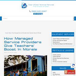 How Managed Service Providers Give Teachers' Boost In Morale
