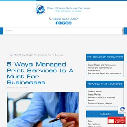 5 Ways Managed Print Services Is A Must For Businesses