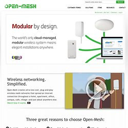 Open Mesh | Cloud-Managed Wireless Networks