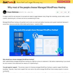 Why most of the people choose Managed WordPress Hosting