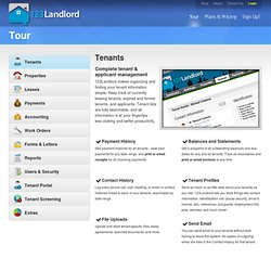 Web-based rental property and tenant management software