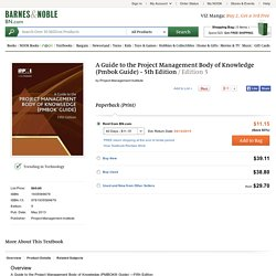 A Guide to the Project Management Body of Knowledge (Pmbok Guide) - 5th Edition / Edition 5 by Project Management Institute