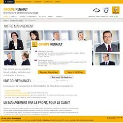 Management Renault : conseil d'administration, comité éxécutif et comité de direction