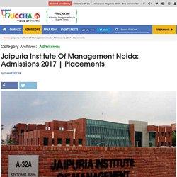 Admission 2017 in Jaipuria Institute of Management, Noida