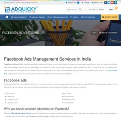 Facebook Ads Management Services in India