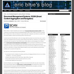 Document Management Systems: SCAN (Smart Content Aggregation and Navigation)