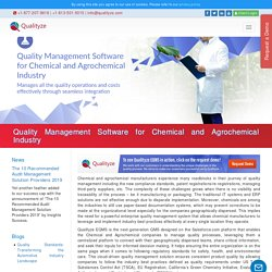 Quality Management System for Chemical and Agrochemical Industry