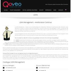 Formation e-Learninng LEAN Management – Amélioration Continue. Lean 6Sigma formation à distance par Qoveo. elearning lean,